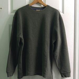 L.L.Bean Men's Sweater 100% Cotton Crewneck Green